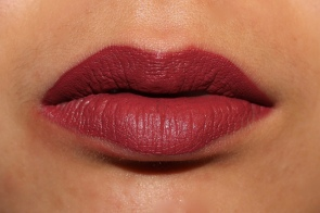 Ciaté Liquid Velvet in Pin Up Worn on Lips