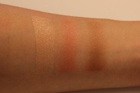 Too Faced Sweet Peach Glow Highlighting Palette swatches