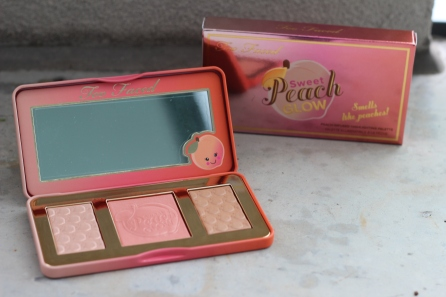 Too Faced Sweet Peach Glow Highlighting Palette, $52 CAD/$42 USD.