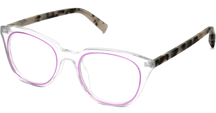 Chelsea, Crystal and Plum with Onyx Tortoise temples