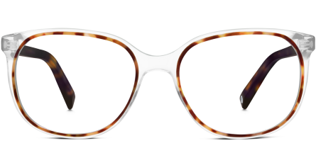Laurel, Crystal and Cognac Tortoise with Cognac Tortoise temples