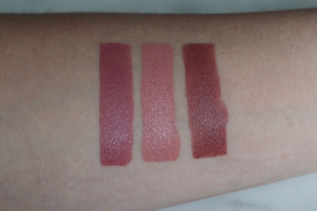 Refillable Lipstick Swatches (L-R): My One Desire, True Love Means, You Are My