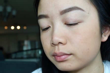 Radiant Loose Powder foundation applied on primed face.