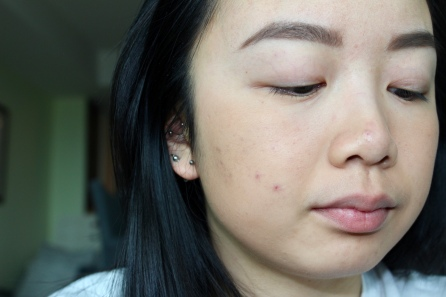 Radiant Loose Powder foundation applied on un-primed face.